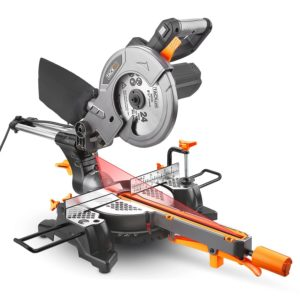 Gehrungssäge, 1500W, Tacklife PMS01X Kappsäge mit Laser